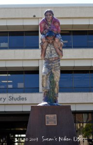 A statue that has nothing to do with UTSA!