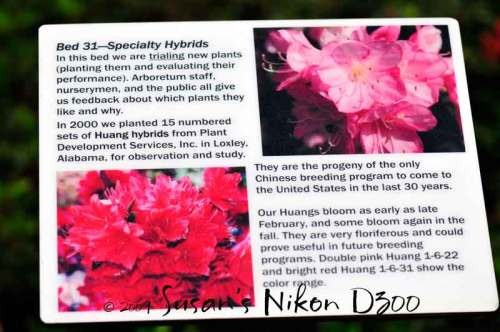 One of the many informational signs in the garden