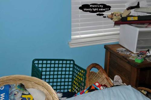 Part of #2 son's messy bedroom