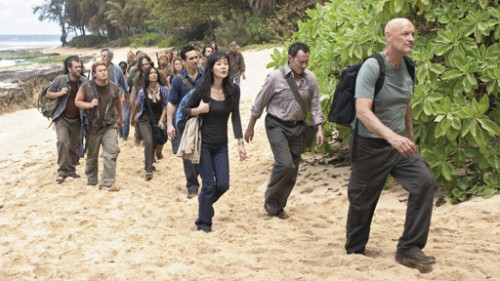 In 2007, Locke, Richard, Sun, Ben, and the Others go for a stroll.