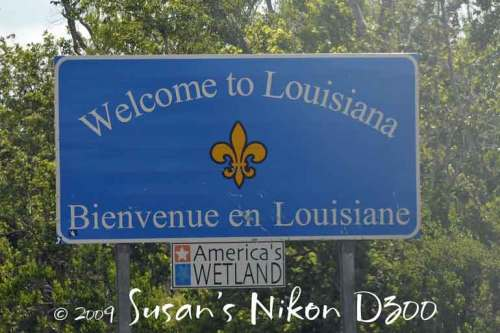 First, we crossed into Louisiana.