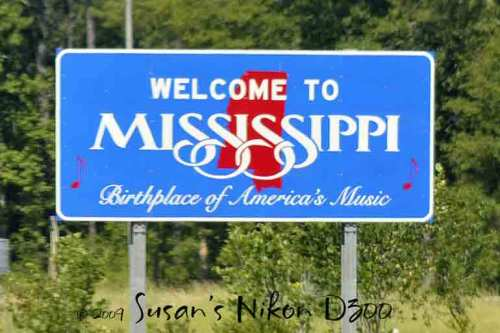 Then we moved on to Mississippi (I still spelled it out in my head as I typed, even though I could read the sign!).