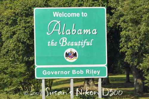 The shortest state to cross was Alabama.