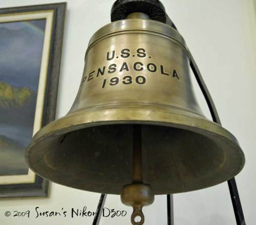 The bell from the USS Pensacola