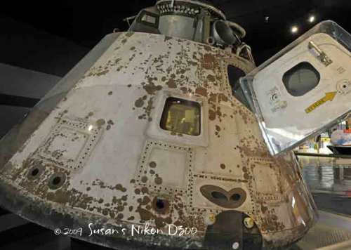 A battered Skylab, America's first experimental space station
