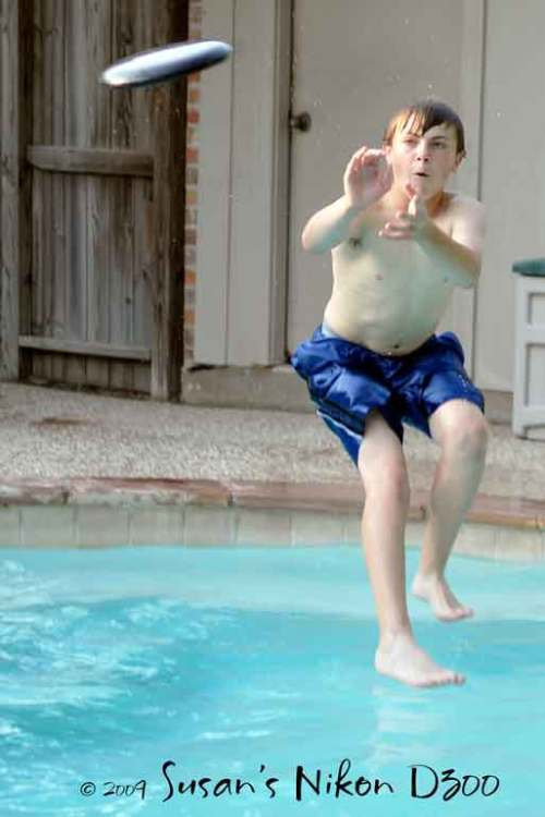 #2 also is trying to perfect the walking-on-water trick!