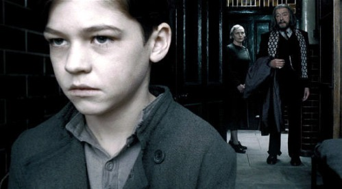 The young Tom Riddle and Dumbledore