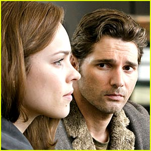 The time traveler (Eric Bana) and his wife (Rachel McAdams)