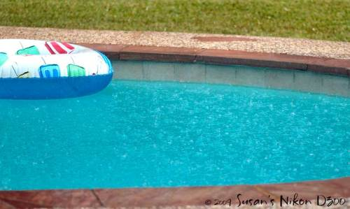 Water upon water in our pool