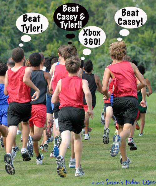 The freshmen boys all have different motivations for doing well.