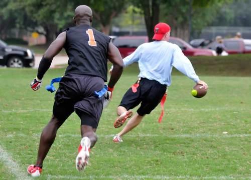 #1 chases coach Matt.