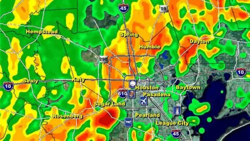 The Houston-area radar at 11 a.m.