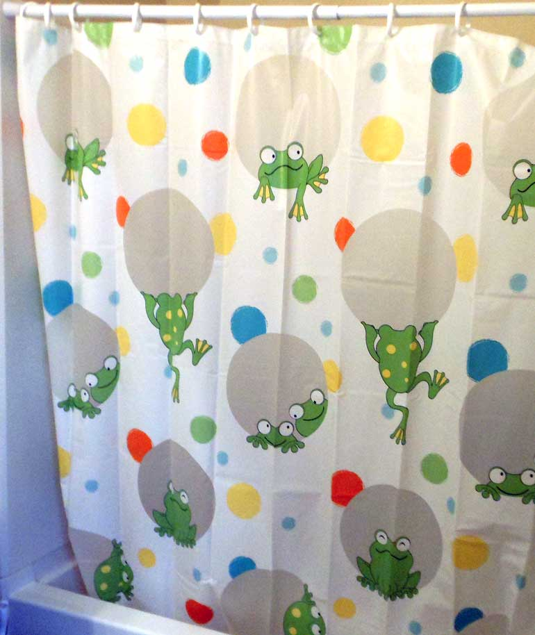 Delightful My Son Picked Out This Cute Frog Shower Curtain.