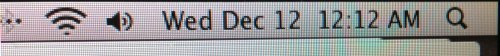 Yep, I was awake for 12:12 on 12/12/12.