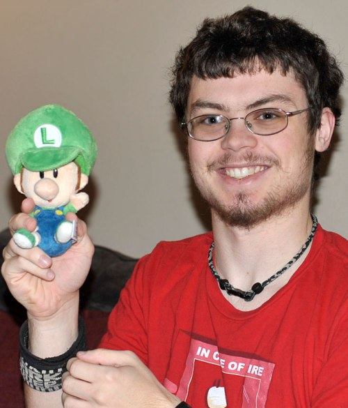 My older son likes the baby Luigi his little bro gave him for Christmas.