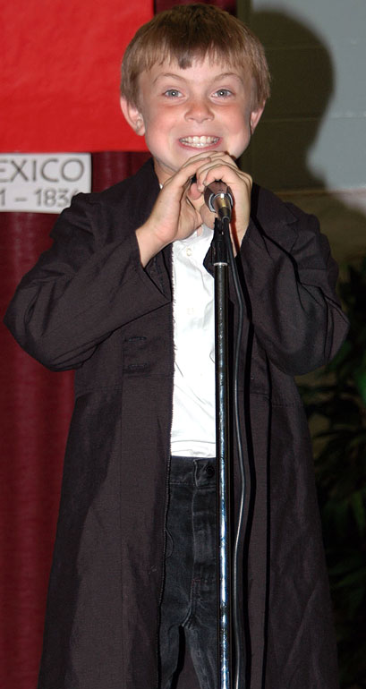 A natural at the microphone