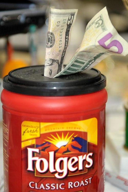 A novel idea for a tip jar!