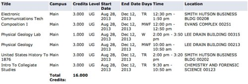 Looks like a good schedule.