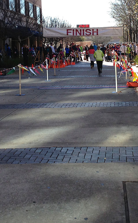 My favorite part of every race: The finish line