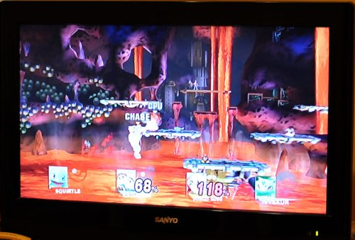 The boys played Super Smash Brothers Brawl.