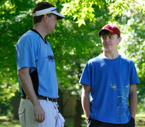 Eric advised my son at the 2010 amateur disc golf worlds in Ohio.
