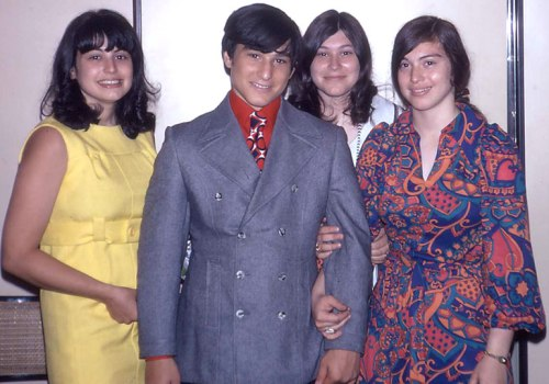 The four of us looked so groovy in 1970.