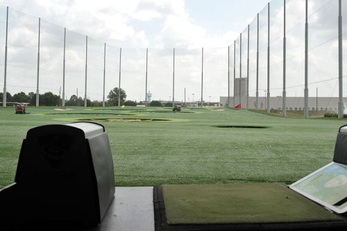 The outside part of TopGolf