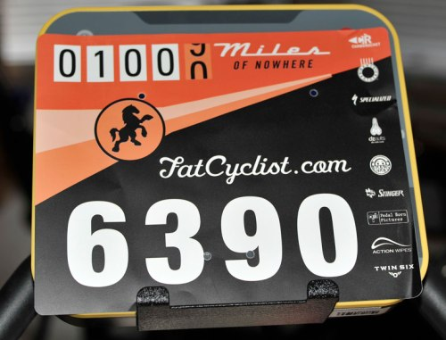 My race bib rests on the LeMond.