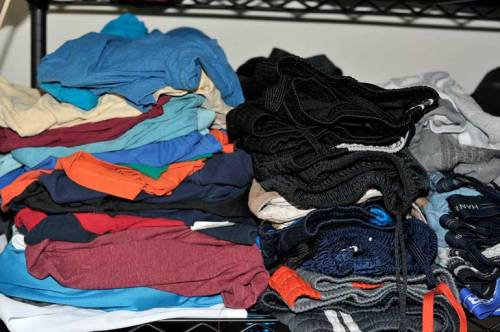 Not only does my younger son know how to do his laundry, he also folds his clothes very neatly.
