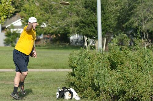 Yes, that IS Patrick sending his disc towards the basket.
