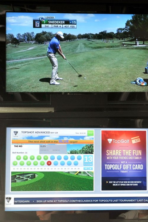 We watched the Canadian Open final round as well as the scoring monitor.