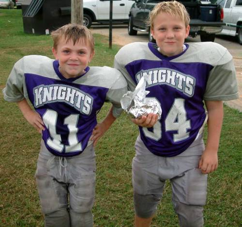 Possibly the cutest youth football players ever!