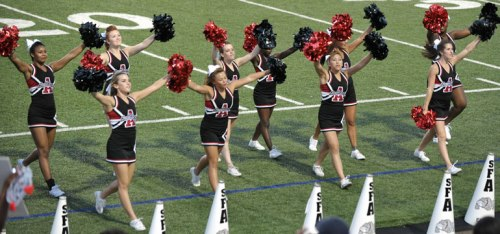 Cheering after a touchdown