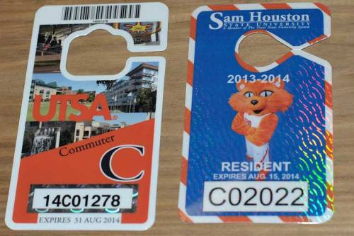 Parking permits are ready to be used.