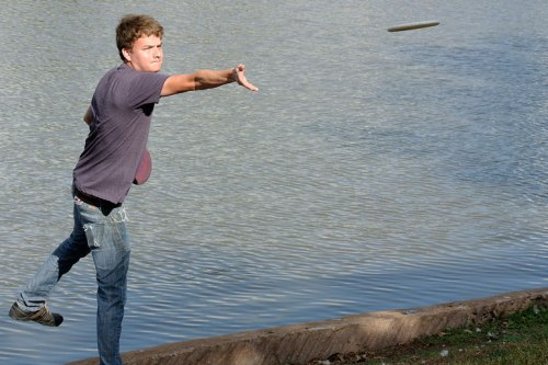 Michael was glad his upshot stopped short of the lake.