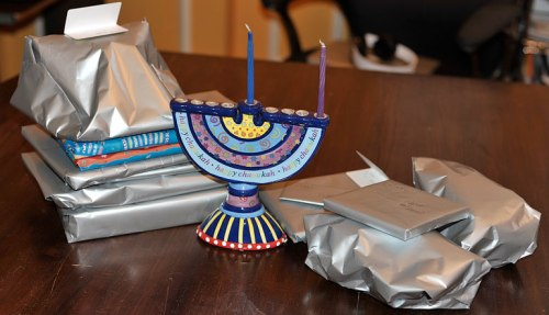 We'll break out two new menorahs this year . . . if the other one arrives on time.