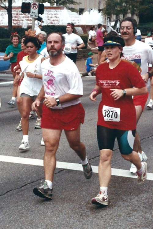 The Mister and I ran the 1990 Jingle Bell 5-Miler together.