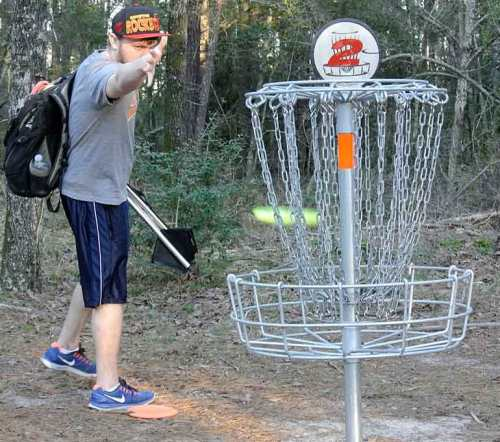 That really IS a disc heading from C.J. to the basket.