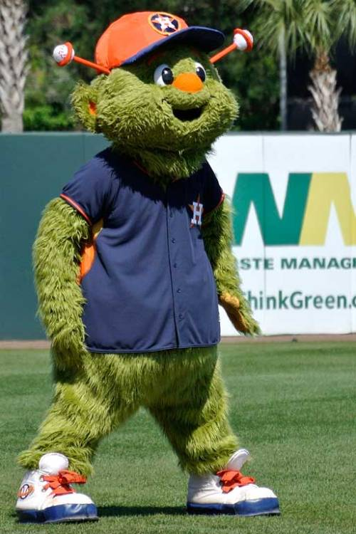 The Astros' mascot Orbit was large and in charge.
