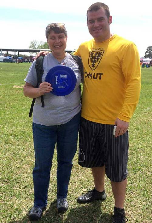 I posed with Rob and his special disc.