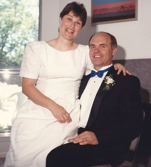 Ahhhh! So young and innocent! Us on our wedding day 24 years ago.